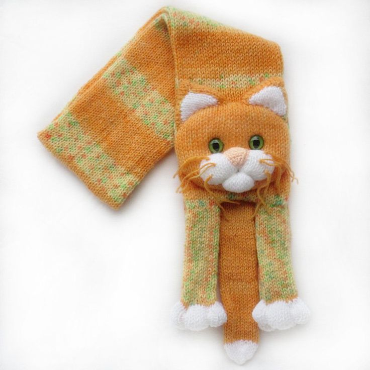 142 best knitted cat scarf images on Pinterest | Cat scarf, Knitted ...