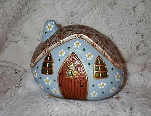 Light Blue Rock Fairy Houses | Flickr - Photo Sharing!
