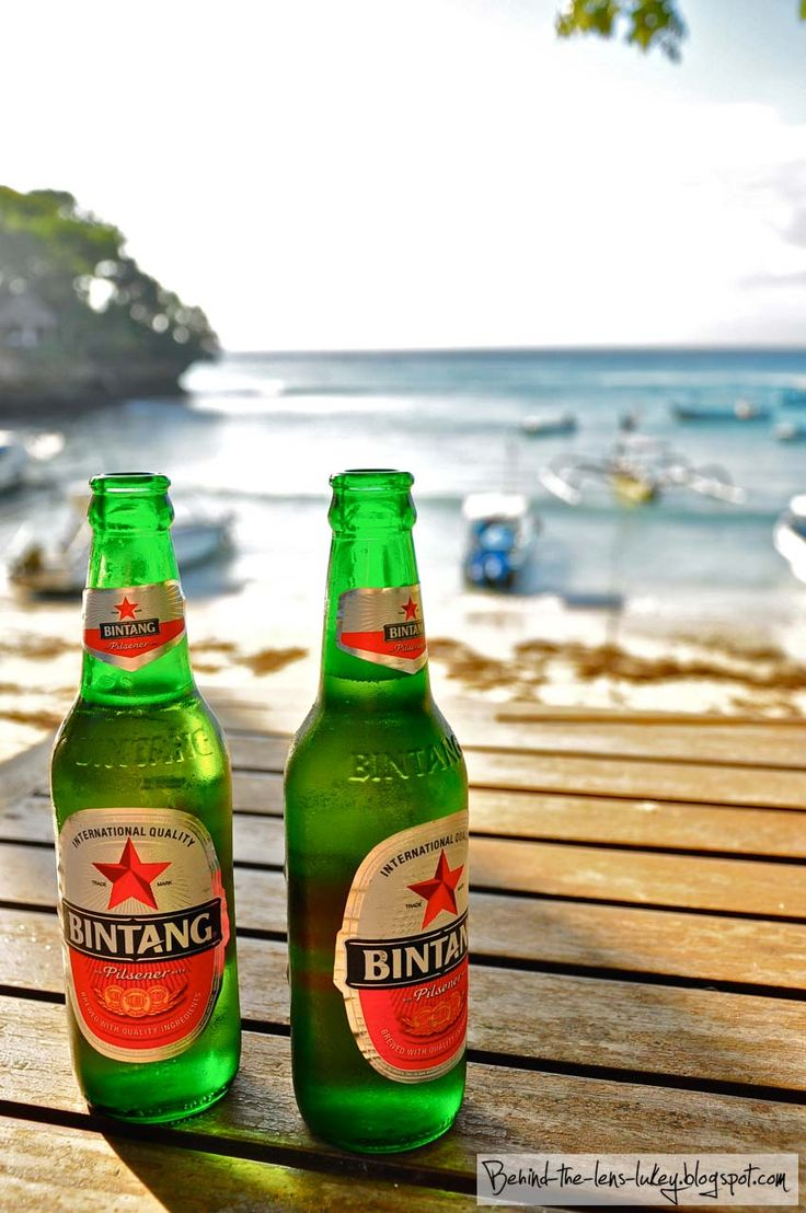 love to drink while bumming at the beach. :)    Behind The Lens Lukey: Who's up for a Bintang?