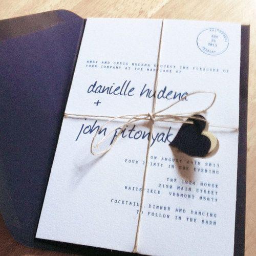 DIY wedding invitations Bryllups invitationer