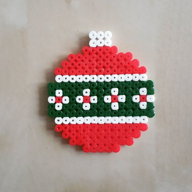 Christmas bauble hama beads by choupinette4