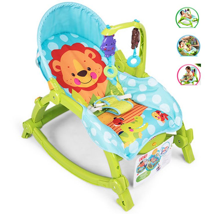 Baby Throne Multifunctional Musical Game Cradle Baby Bouncer Chair Light Fold Baby Cradle 3 color For Available