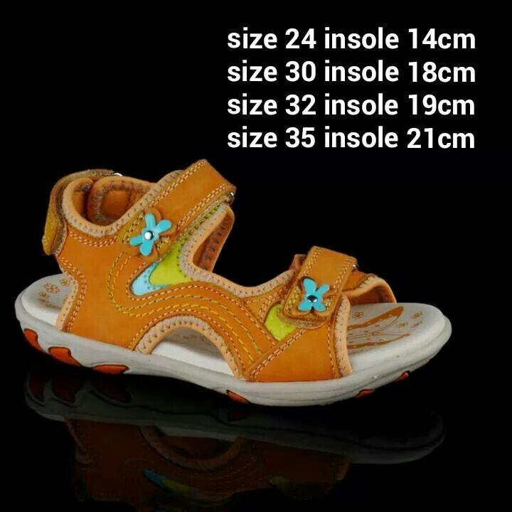 READY STOCK KIDS LEATHER SANDAL KODE : SUNRISE ORANGE Size 24,30,32,35 PRICE :  - Size 24 = Rp.205.000 - Size 30,32,35 = @Rp.225.000 AVAILABLE SIZE (insole) : - Size 24 (14cm)  - Size 30 (18cm) - Size 32 (19cm) - Size 35 (21cm)  MATERIAL : Genuine Leather (Kulit Asli), Sol Empuk, Sesuai untuk anak-anak :)   FOR ORDER : SMS/Whatsapp 087777111986 PIN BB 766a6420 Facebook : Mayorishop  #pusatsepatubootsanak #sandalanak #sandalkulitanak #sandalanakperempuan #sandalcantik #sandalsantai…