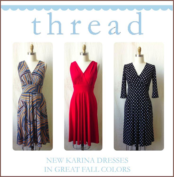 New Karina Dresses in great Fall colors!