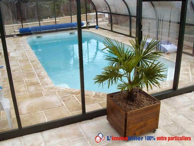 33 best Piscine couverte images on Pinterest Landscaping, Swimming - prix veranda piscine couverte