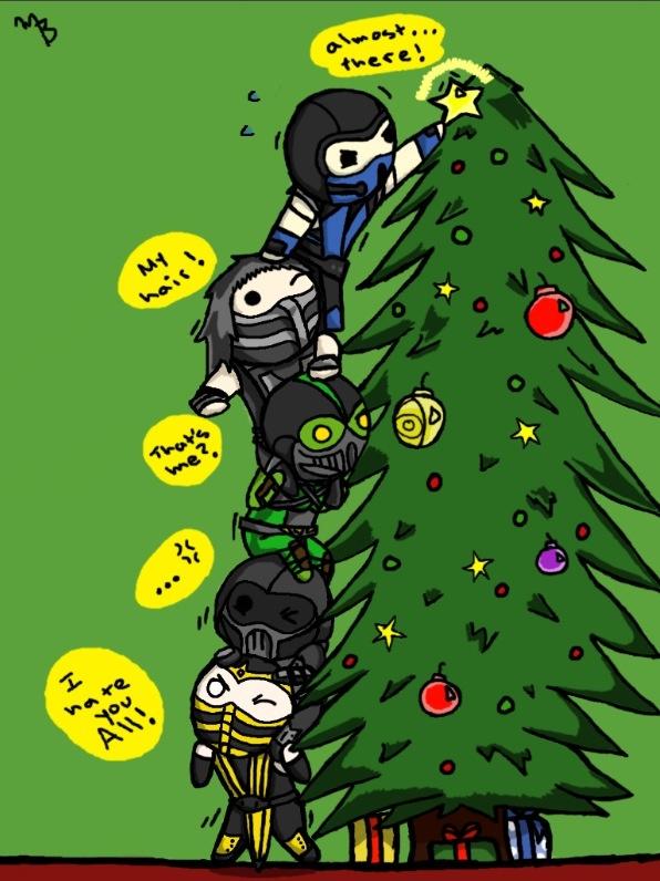 So cute Mortal kombat ninjas