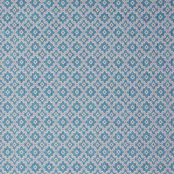 Warwick Fabrics : PEDRO, Colour AQUA
