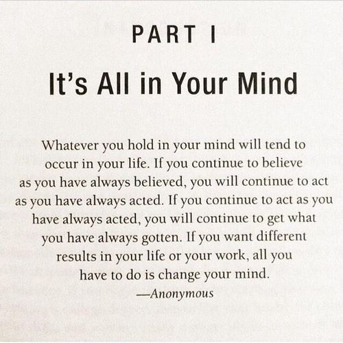 It\'s all in your mind.