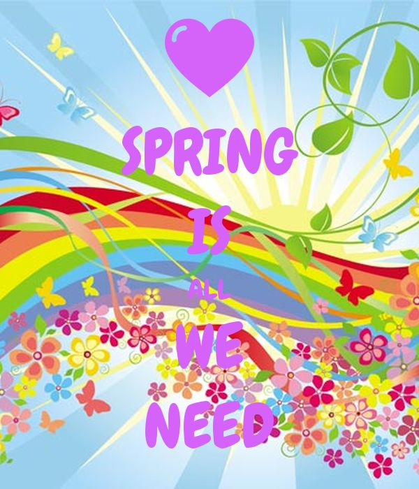 'SPRING IS ALL WE NEED' Poster