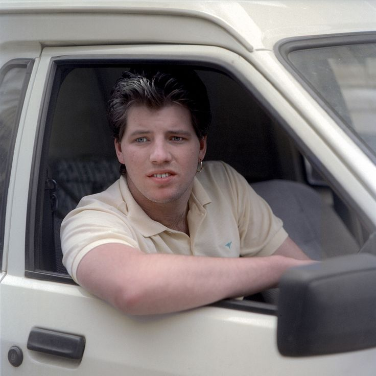 White Van Man 1987   In the mid 1980, Chris Dorley-Brown photographed drivers stuck in traffic jams in and around East London