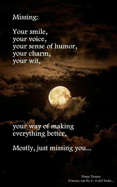 Not a day goes by that I don't think about you . . . I will love you and I will miss you always Dad . . .