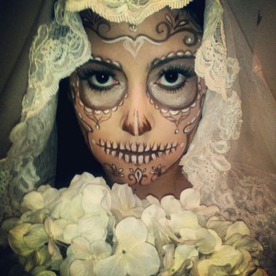 121 best Half Face Sugar Skull Makeup images on Pinterest ...
