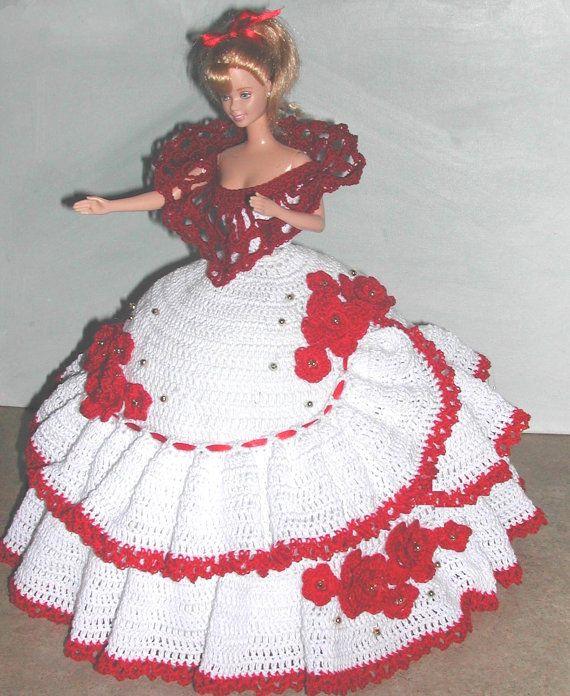 Crochet Fashion Doll Barbie Pattern 662 door JudysDollPatterns
