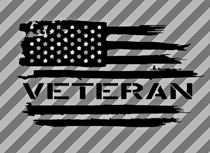 American flag Veteran - Army USA Military Soldier vinyl die cut sticker decal #FunfareDecals