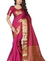 Buy Pink printed art silk saree with blouse traditional-saree online