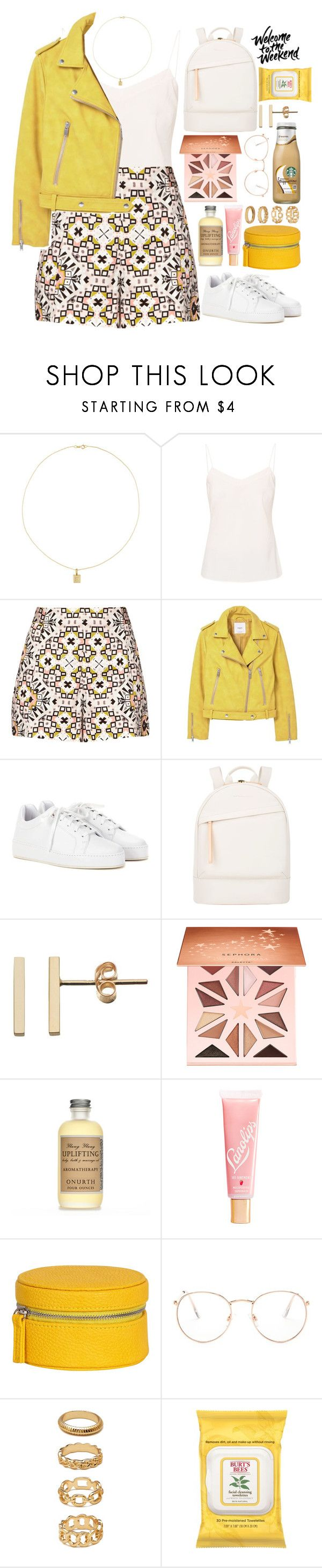 """🌕"" by fashioneex ❤ liked on Polyvore featuring Jennifer Meyer Jewelry, Ted Baker, French Connection, MANGO, Loro Piana, Want Les Essentiels de la Vie, Sephora Collection, Lano, Glance Eyewear and Forever 21"