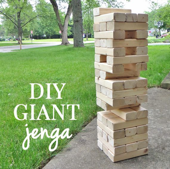 DIY Giant Jenga - Make this for only $8. Awesome!