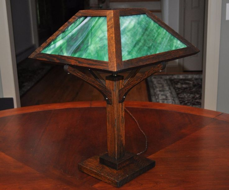 Oak And Glass Table Lamps: 11 Best Holland Mission Style Lamp By Ragsdale Home