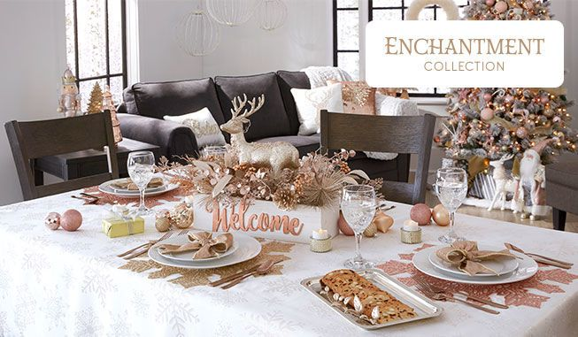 Set Your Dining Table In Shimmery Rose Gold With The Enchantment