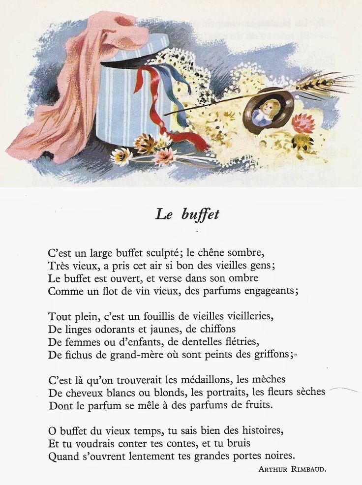 Le buffet arthur rimbaud po sie pinterest buffet - Illustration de la poesie le dormeur du val ...