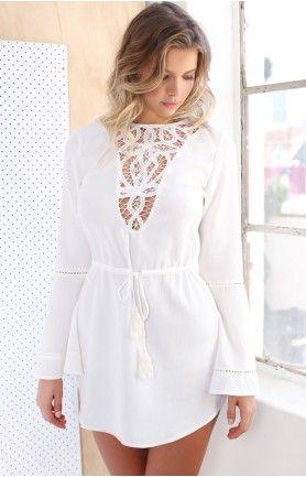 Indian Summer Dress White #BBFEST #beginningboutique