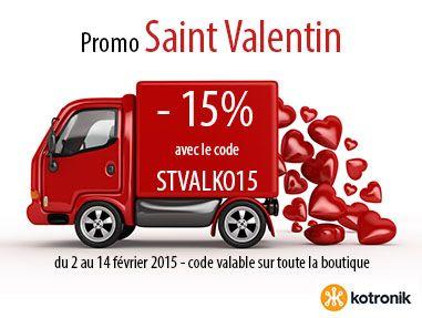 -15% sur TOUTE LA BOUTIQUE à l'occasion de la Saint Valentin, offrez ou faites-vous offrir des modules Kotronik  www.kotronik.com