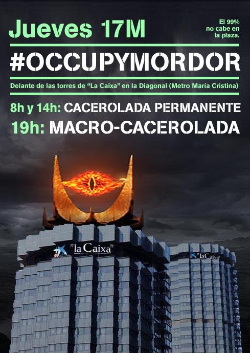 #occupyMordor #LaCaixaEsMordor