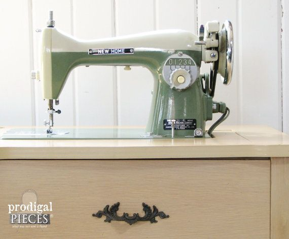 Reserved Vintage Green Janome Quot New Home Quot Sewing Machine