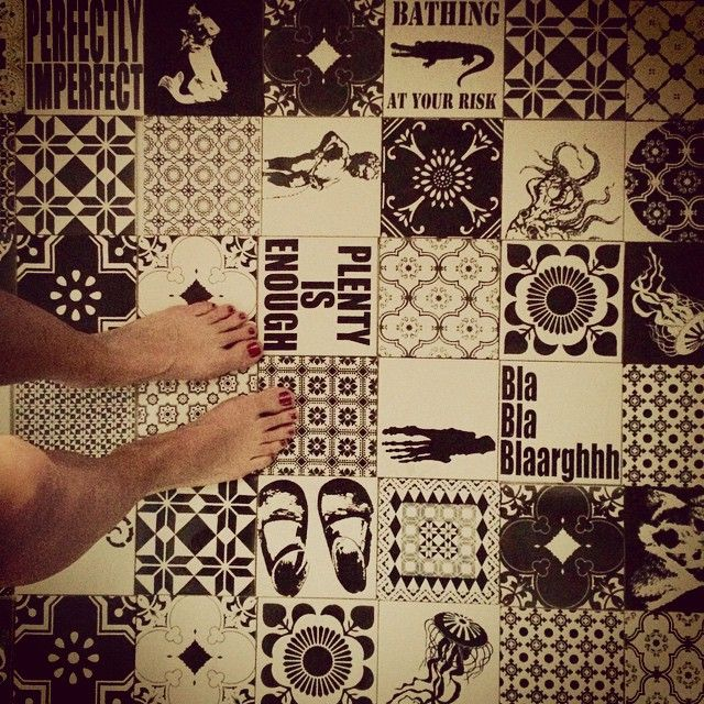 Complete different shower experience 👏 #floor #floortiles #arttiles #ceramic #bathroom