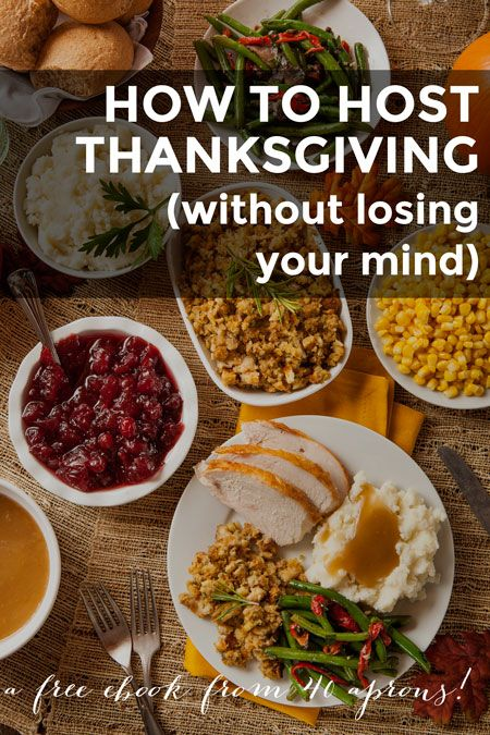 A step-by-step guide on hosting your first Thanksgiving dinner--great for newbies or seasoned cooks. With a menu, shopping list, schedule, reviews, info.