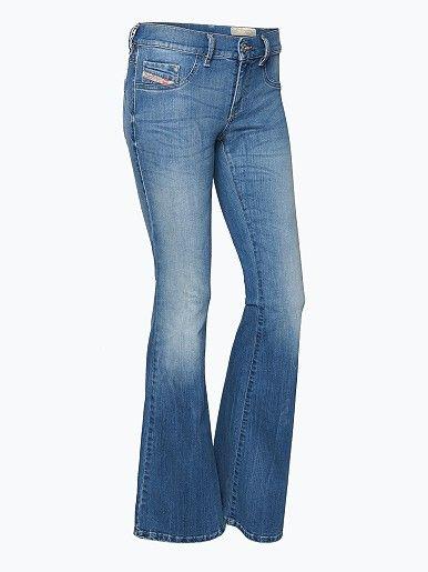 Diesel Damen Jeans - Livier-Flare - Livier-Flare, die im Slim Fit gefertigte 5-Pocket-Jeans von Diesel, zeichnet sich vor allem durch ihr weit ausgestelltes Bein aus. - Livier-Flare, die im Slim Fit gefertigte 5-Pocket-Jeans von Diesel, zeichnet sich vor allem durch ihr weit ausgestelltes Bein aus...