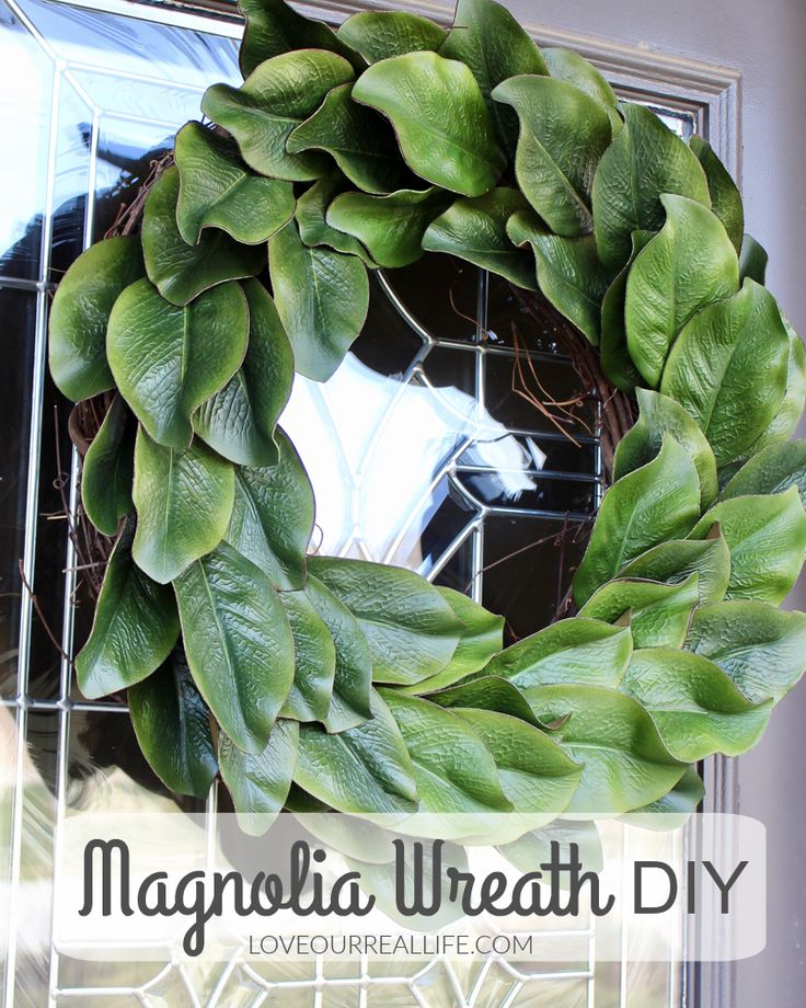 Magnolia wreath, magnolia wreath DIY, Wreath