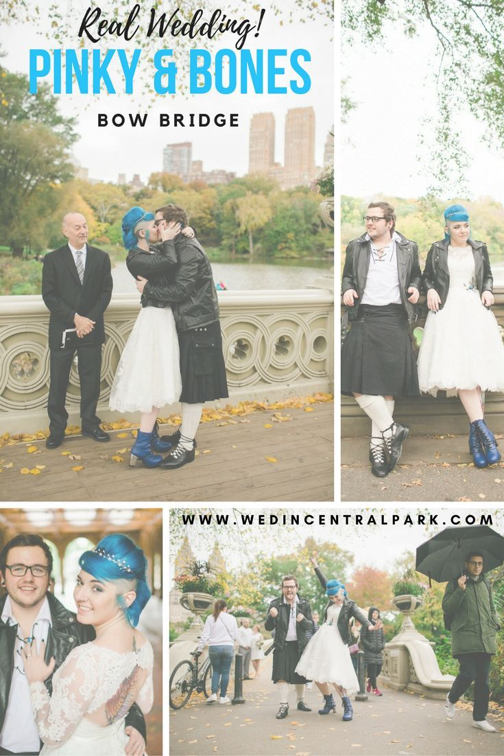 Pinky and Bones' Surprise Elopement on Bow Bridge, Central Park