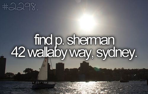 There is no P. Sherman Wallaby way in Sydney