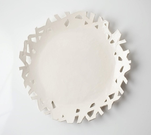 Medium White Cutaway Plate. $62.00, via Etsy.: Cutaway Plate, White Cutaway, 62 00, Etsy, Ceramic Plates, Object, Medium White, Ceramics Ideas