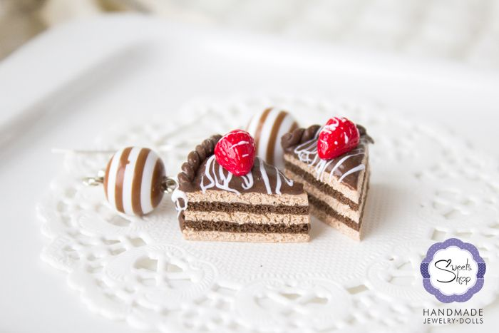 Серьги «Шоколадный торт» |