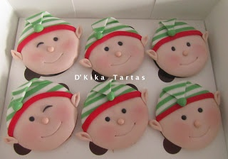 Elfos de Navidad / Elves cupcakes - D'Kika Tartas