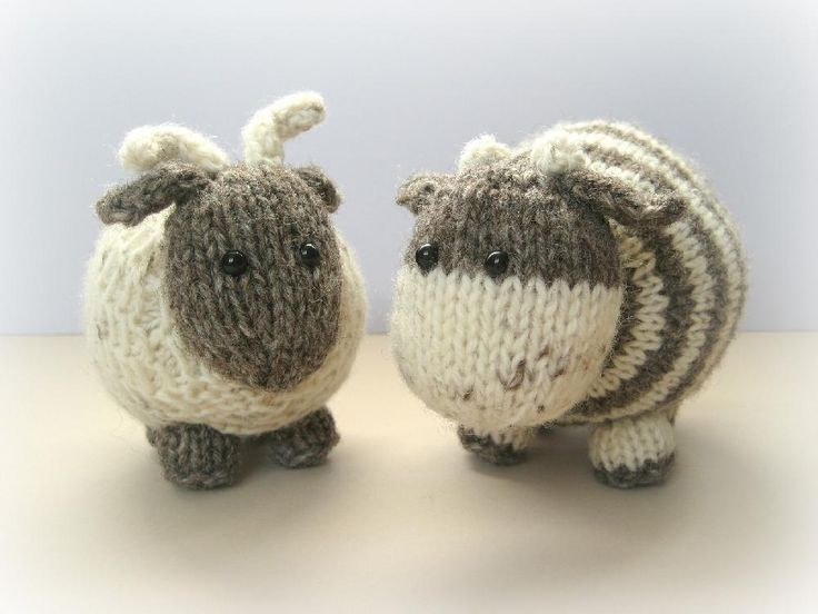 Knitting Pattern Cow Toy : Bramble goat and chestnut cow Knitting patterns, Patterns and Toy