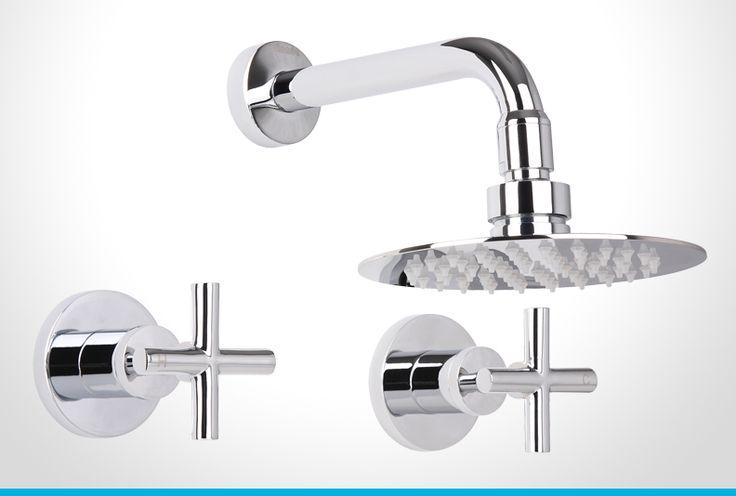Resonance chrome cross handle shower set