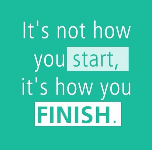 It's not how you start, it's how you FINISH. #beFit http://www.qualiproducts.com
