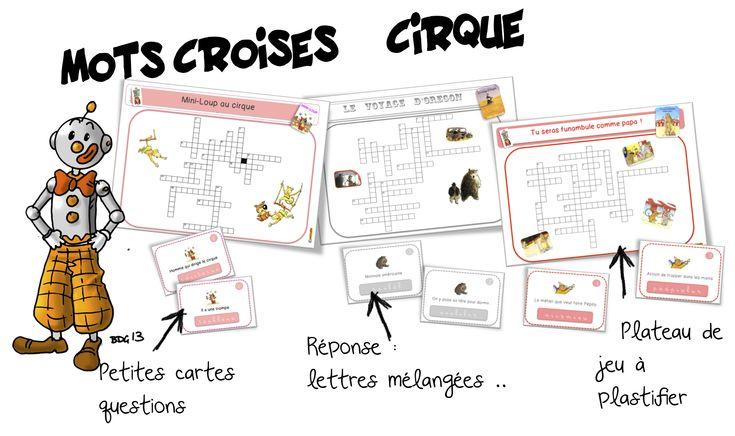 Mots croisés : cirque. Mini-loup, Orégon et funambule…   Bout de Gomme