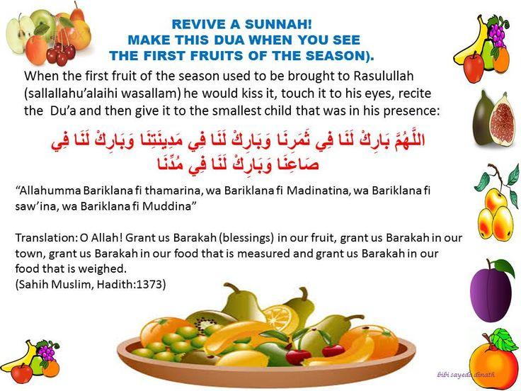 duas for eating new fruit....Islam Muslim