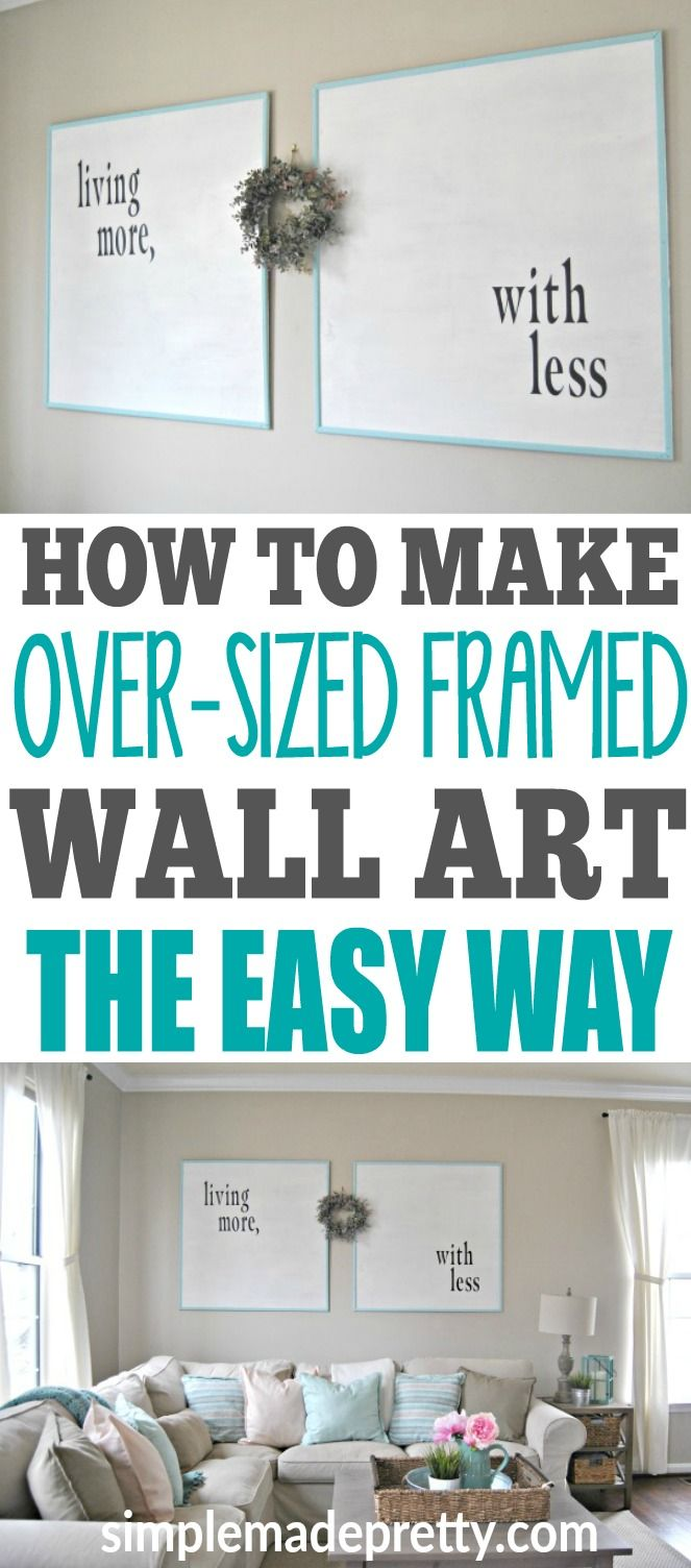 An easy (and inexpensive) DIY to decorate your home | Diy artwork ...