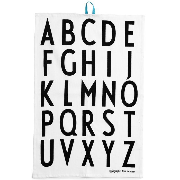 Scandinavian Design, Design Letters Tea Towels (Pack of 2)