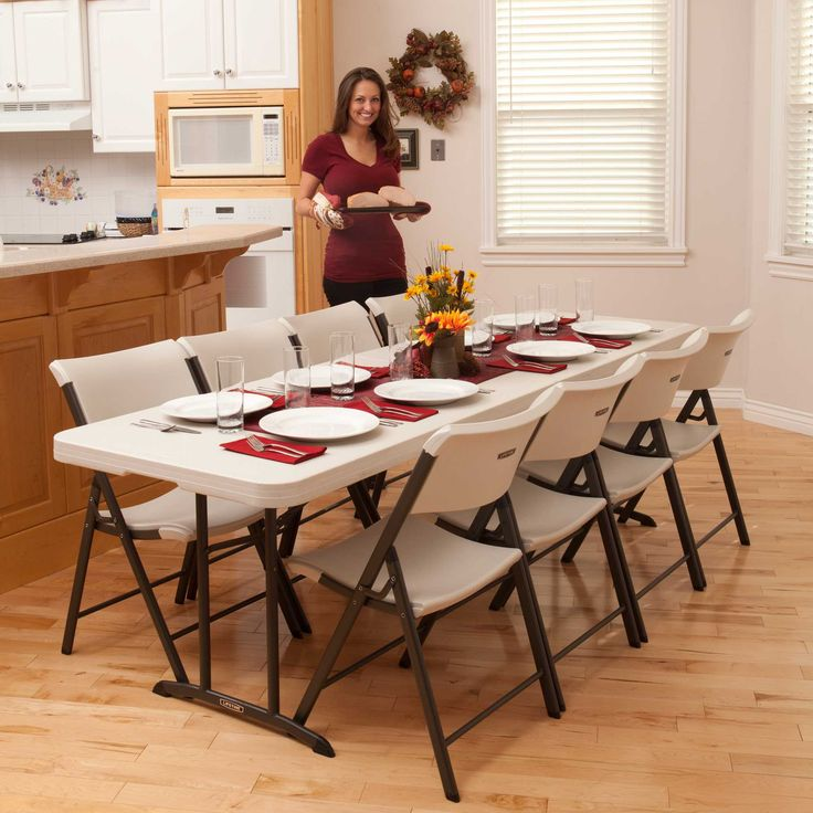 Use This Lifetime Almond Fold In Half Table To Totally Rearrange Any Boring Space Into A Truly Useful Gathering Location