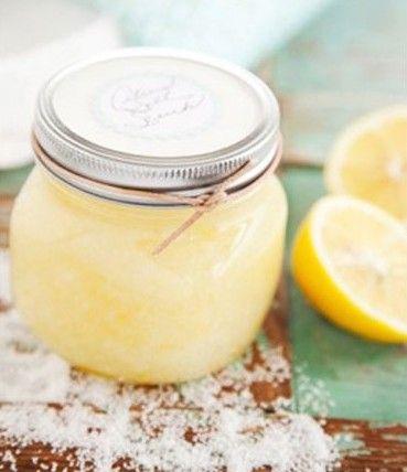 Exfoliante de sal y limón pineado por www.estrellasdeweb.blogspot.com