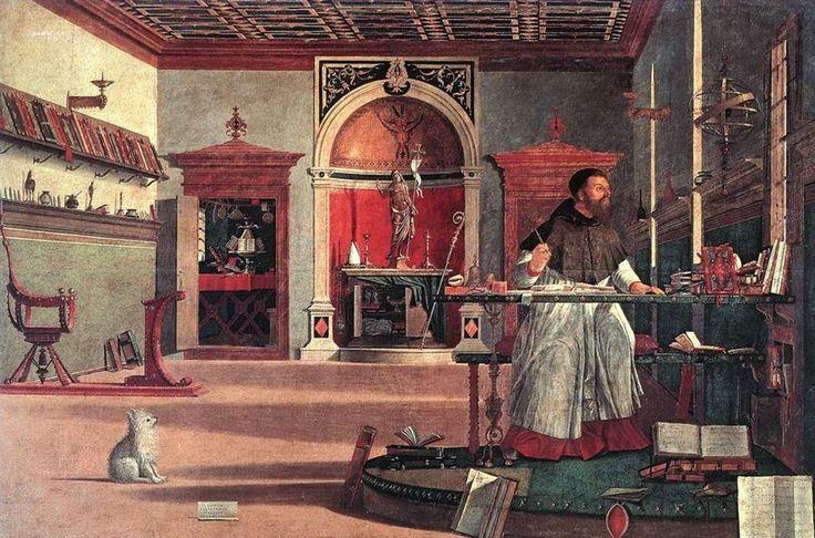 Vittore carpaccio, visione di sant'agostino 01 - Augustin d'Hippone — Wikipédia
