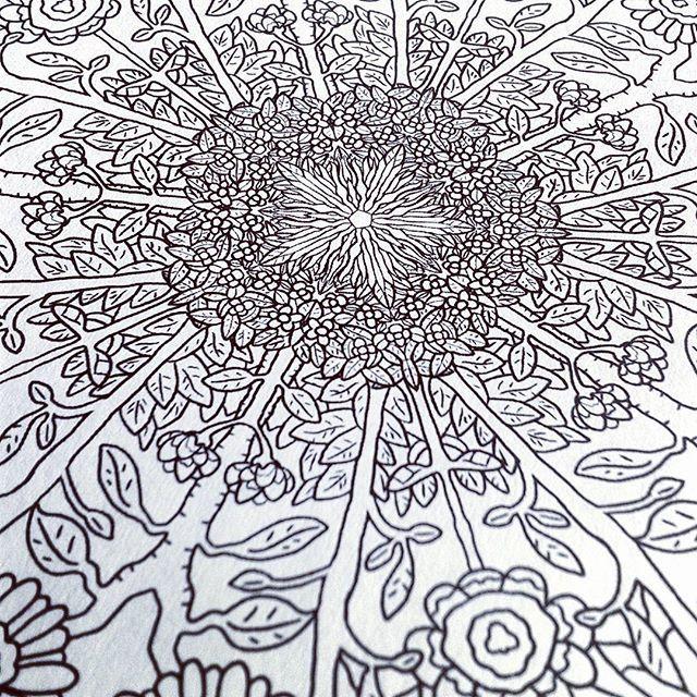 Coloring Complicatedcoloring Flowers Hakunamandala Mandala Image From Hakuna