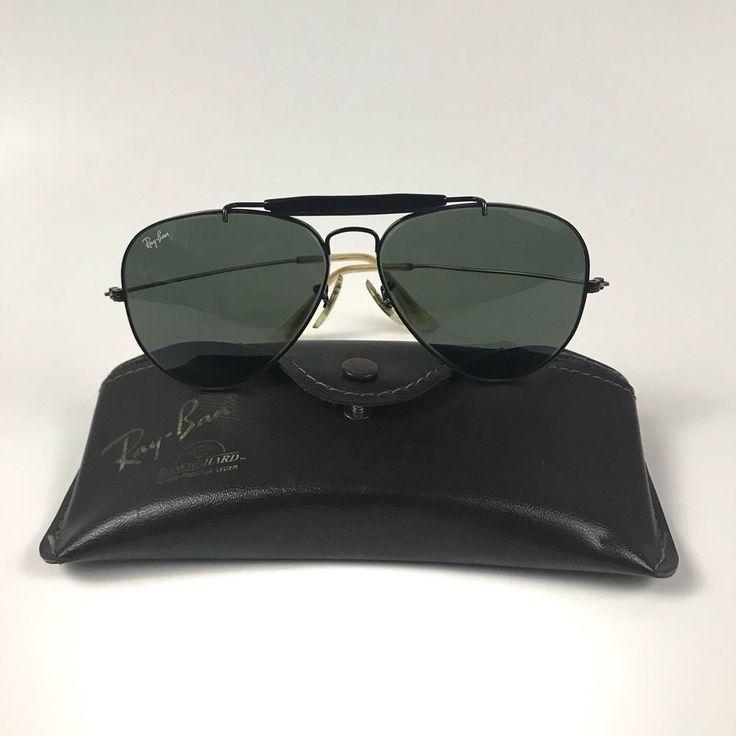 Vintage Ray Ban Aviator Bausch & Lomb Sunglasses Black Rims Lens Survivor Series  | eBay