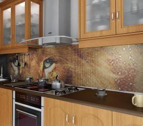 Панно на фартуке в виде льва
